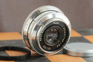 Silver-Industar-50-3-5-50mm-Russian-Lens-for-M39-M42-L39-SLR-Zenit-KMZ