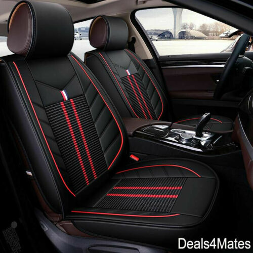 For Renault Dacia Black Fabric /& Leatherette Luxury Full Set Car Seat Covers