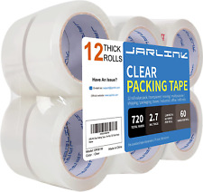 New Listingstrong Clear Packing Tape Refill Rolls For Shipping Moving Packaging 12 Rolls