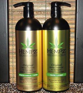 Hempz-Original-Shampoo-amp-Conditioner-Damaged-Hair-33-8-oz-Liter-Set-Duo-Pack