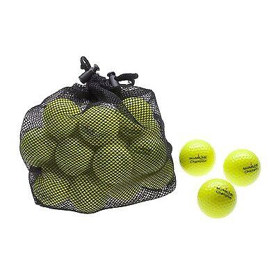 25 x CHAMPION - Golfbälle | Distanz-Bälle für langen, weiten Ballflug | gelb