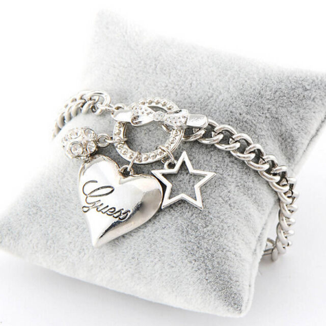 Popular Gold/Silver Plated Pentagram Heart RhineStone Crystal Bracelet
