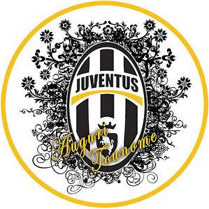 Cialda Ostia Per Torta Scudetto Juve Juventus Personalizzata Ostia
