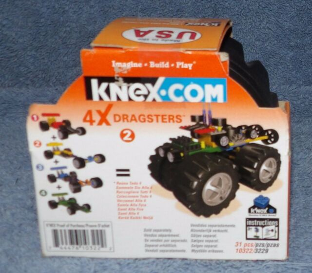 Knex 4x Dragsters Set 2 10322 Yellow Dragster 31 Pieces Ebay