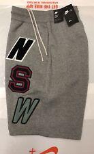 930248 091 Nike Mens Sportswear NSW Loose-Fit Fleece Shorts Sz UK S Grey