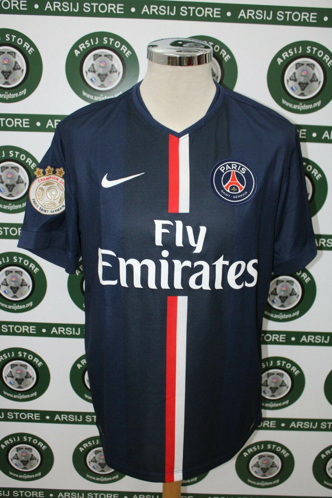 Maglia calcio shirt maillot trikot camiseta IBRAHIMOVIC PARIS SAINT GERMAIN TG L