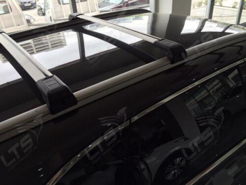 Hyundai Santa Fe MK3 Bloqueable Baca barras cruzadas de Barra 2012 en adelante 75 kg