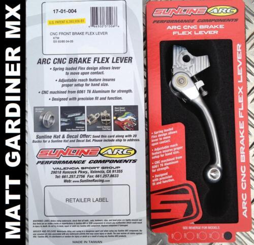 Sunline Motocross Bogen CNC Vorderbremse Flex Hebel KTM SX 65 85 2003-2012