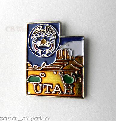 UTAH US STATE MAP LAPEL PIN BADGE 1 INCH