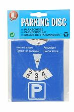 CAR PARKING DISC TIMER CLOCK ARRIVAL TIME DISPLAY DISABLED BLUE BADGE HOLDERS