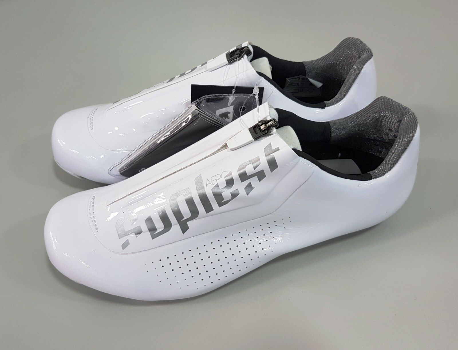 Suplest  Aero Carbon Road Bike Cycling Road shoes White Size 42.5  discount low price