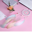 Attrape-Reve-Plumes-Dream-Catcher-Rose-Decoration-Bijoux-des-Lys miniatura 2