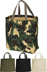 Canvas-Tote-Shopping-Bag-Shoulder-Reusable-Grocery-Beach-Foldable-Durable-Eco