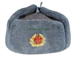 Image is loading Original-Soldier-Ushanka-Hat-Military-Winter-Russian-Army- bf4c0e92f1b