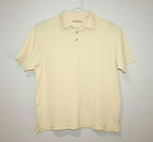 Tommy-Bahama-Men-039-s-Yellow-Polo-Shirt-Size-Large