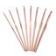 Milward Aluminium Hooks 3mm 15cm x 8 6.5mm Rose Gold Crochet Hook Set
