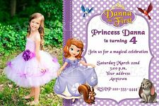 Sofia the first princess Birthday party invitations personalized You print