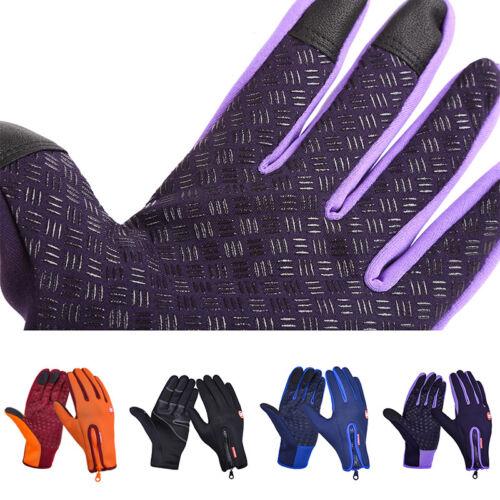 Men Women Screen Touchable Winter Cycling Bike Sport Bicycle Full Finger Gloves