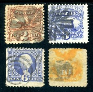 USAstamps-Used-FVF-US-1869-Pictorial-Issues-Scott-113-114-115-116