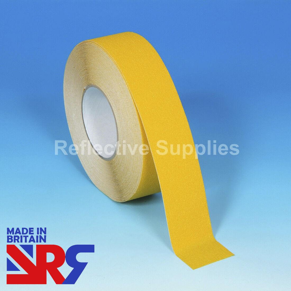Yellow ANTI SLIP TAPE Standard Grip Indoor & Outdoor 25mm 50mm 100mm (RS401) UK