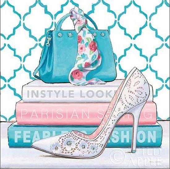Marco Fabiano  Fearless Fashion III Keilrahmen-Bild Leinwand Mode High Heel bunt