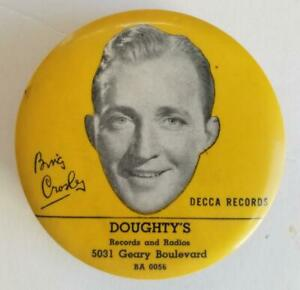 Vintage Bing Crosby Decca Records Record Cleaner DOUGHTY'S SAN FRANCISCO Geary
