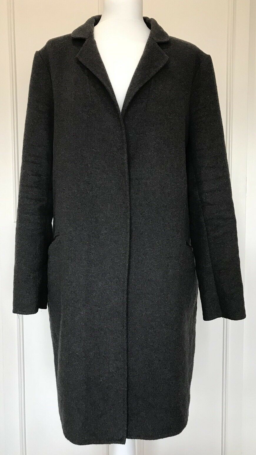 Beautiful Ladies Charcoal Grey ELLE Wool Mix Coat Coat Coat Size XL (16) 59c83c