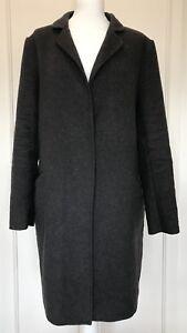Elle Trækul Xl Størrelse Grey Smukke Frakke Damer Wool 16 Mix THg6tnx