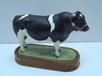 Royal Worcester Porcelain BRITISH FRIESIAN BULL Figurine by Doris Lindner 1964