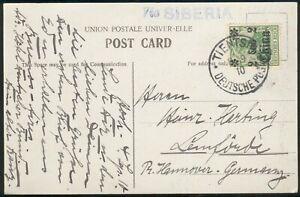 Deutsche-Post-in-China-Postkarte-29-Tientsin-Lemfoerde-pracht