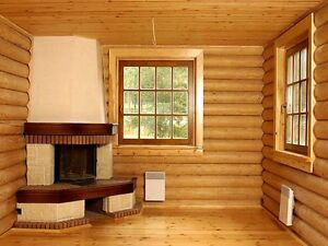 Log cabin home shell kit logs 1308 36 39 x 24 39 with for 300 square foot cabin