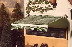 HonnêTe Dolls House Emporium Miniature Échelle 1/12th Vert Et Blanc Boutique Canopy 5524-afficher Le Titre D'origine