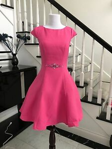 Elegant-hot-Pink-Beaded-Pageant-Interview-Dress-in-stock