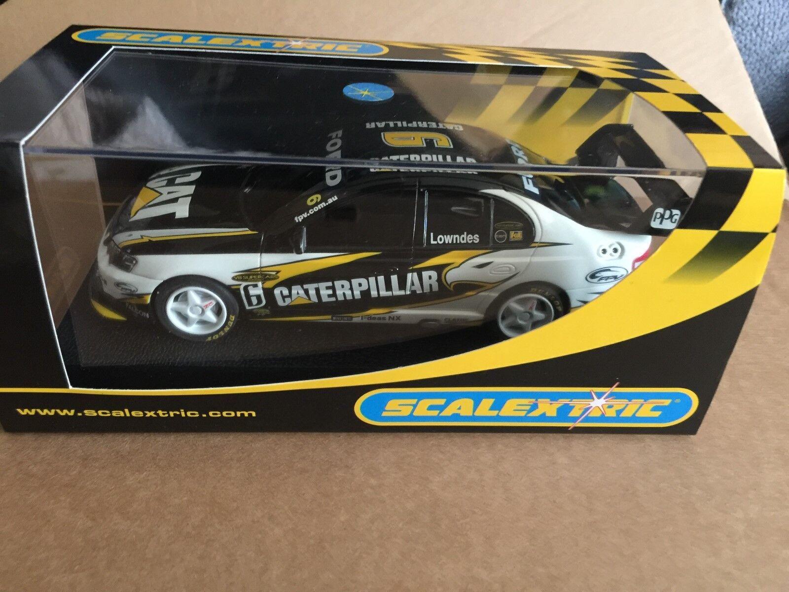 Rare australian SCALEXTRIC Ford Falcon BA CATERPILLAR Nº 6 REF C2615