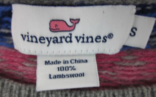 wijnstokken lamswol Isle Sz Fair mouw Small NieuweWijngaard Seaside Korte trui EDI9eHYbW2