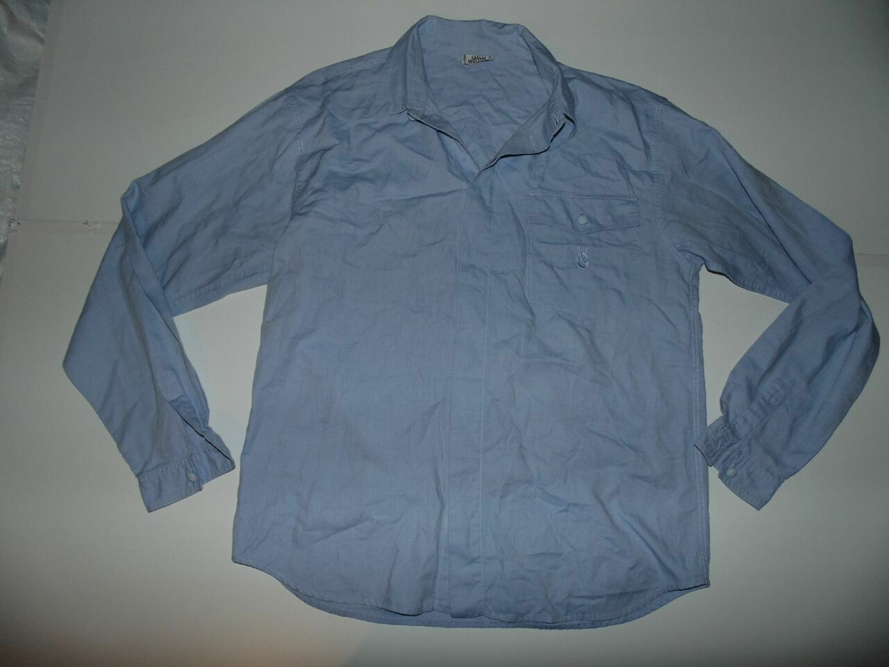 Gianni VERSACE Camicia Blu-Grande Da Uomo-S5771