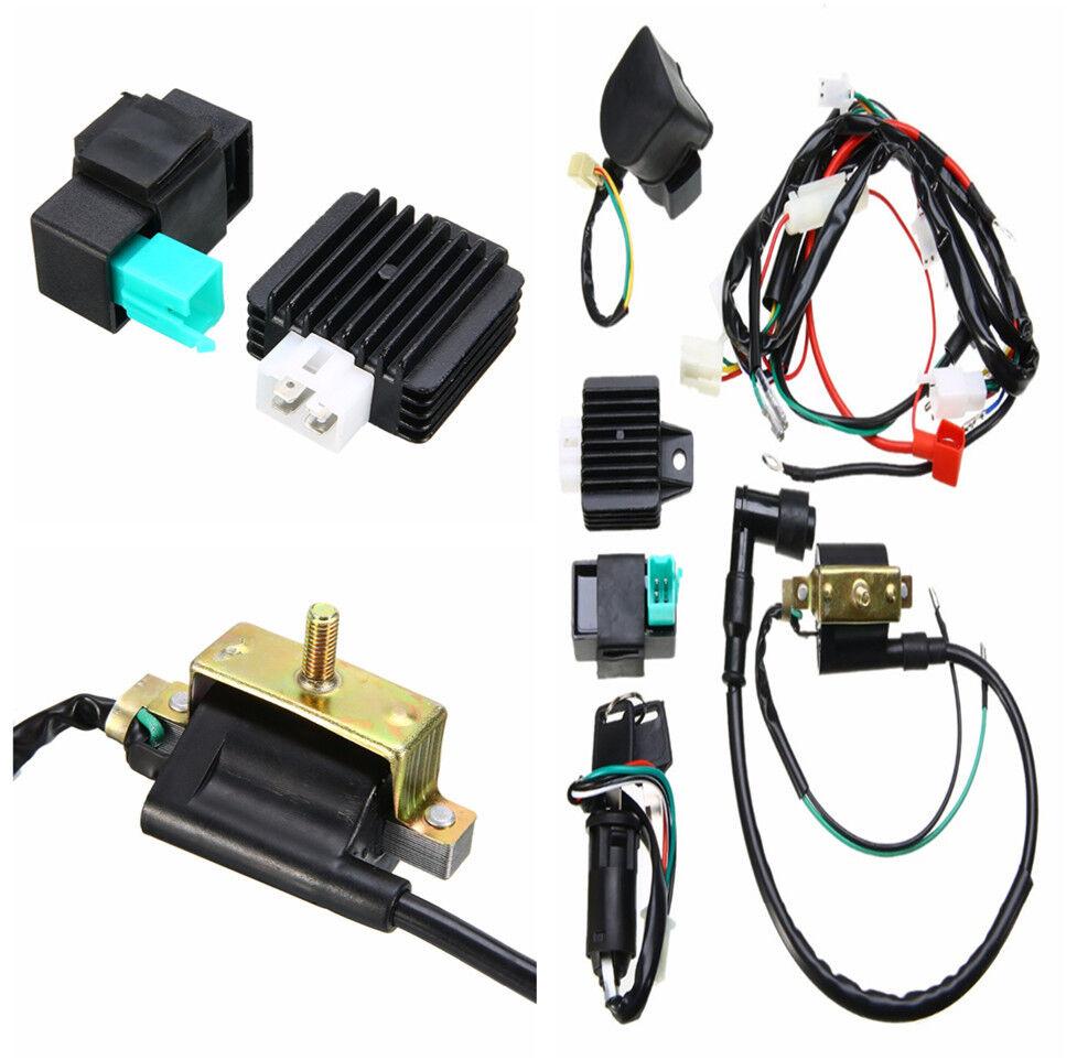 1set Wire Harness W/rectifier Ignition Coil Key CDI Unit Kill Switch Ke Buddy Wiring Harness on