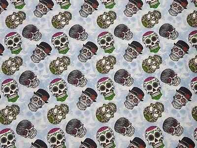 Bello Sostanze Cotone Panama Legame Stampa Digitale Decorazione Patchwork Tenda Teschio Nr2-