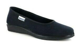 Emanuela-2750-with-Black-Slipper-Ballerina-Cotton-Woman-Rehairer-Low-Comfortable