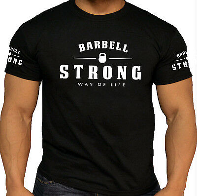 Pro Barbell Strong T-shirts Weightlifting Bodybuilding Gym Workout Training Tops