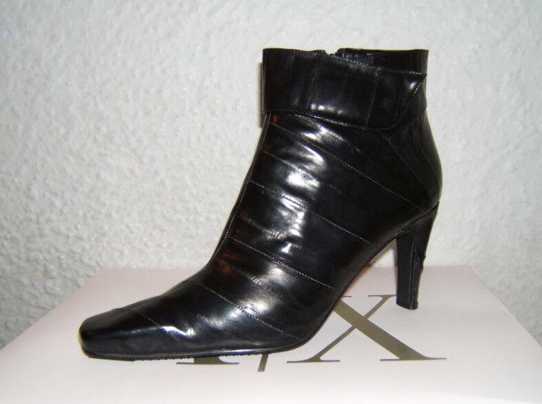 Nuevo Mujer Tobillo negro J. Zapato Renee Cuero Tacón Alto Cremallera Lateral Bota Zapato J. De Vestido Talla 8.5 M 348ba1