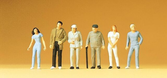 Figurines Preiser H0 (14002): 6 Spectateurs, Debout