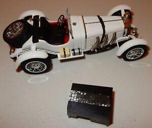 Danbury Mint Car 1931 Mercedes Benz SSKL 1:24 White W Box ...