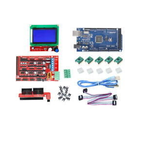 for Arduino Reprap 3D Printer Kits RAMPS 1.4 Mega2560 12864 LCD Controller A4988