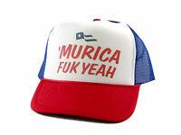 Murica Fuk Yeah Trucker Hat Mesh Hat Snapback Hat Rwb