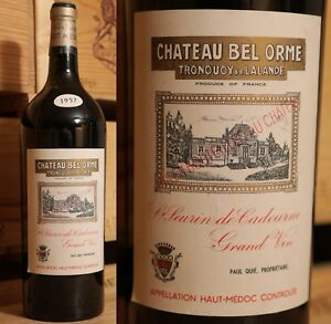 1957er Chateau Bel Orme Tronquoy De Lalande-peau Medoc-magnum-top Rare-afficher Le Titre D'origine