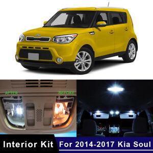9x White Led Car Lights Interior Kit For 2014 2017 Kia Soul Us Stock