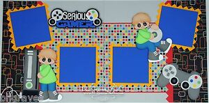 CraftEcafe-Premade-Scrapbook-Page-Paper-Piecing-Serious-Gamer-Boy-BLJgraves-32