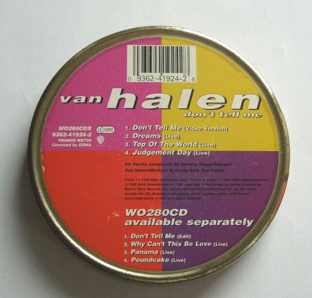 Van Halen – Don't Tell Me CD Metallbox Part 1 of 2 Blechdose 0093624192428 Eddie