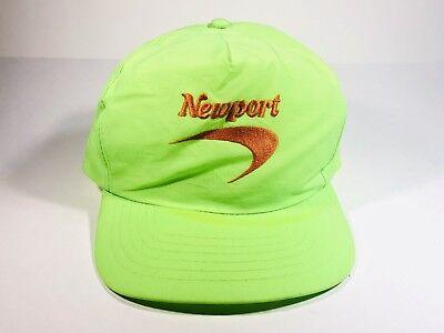 Vintage Newport Cigarettes Snapback Hat Neon Green | eBay